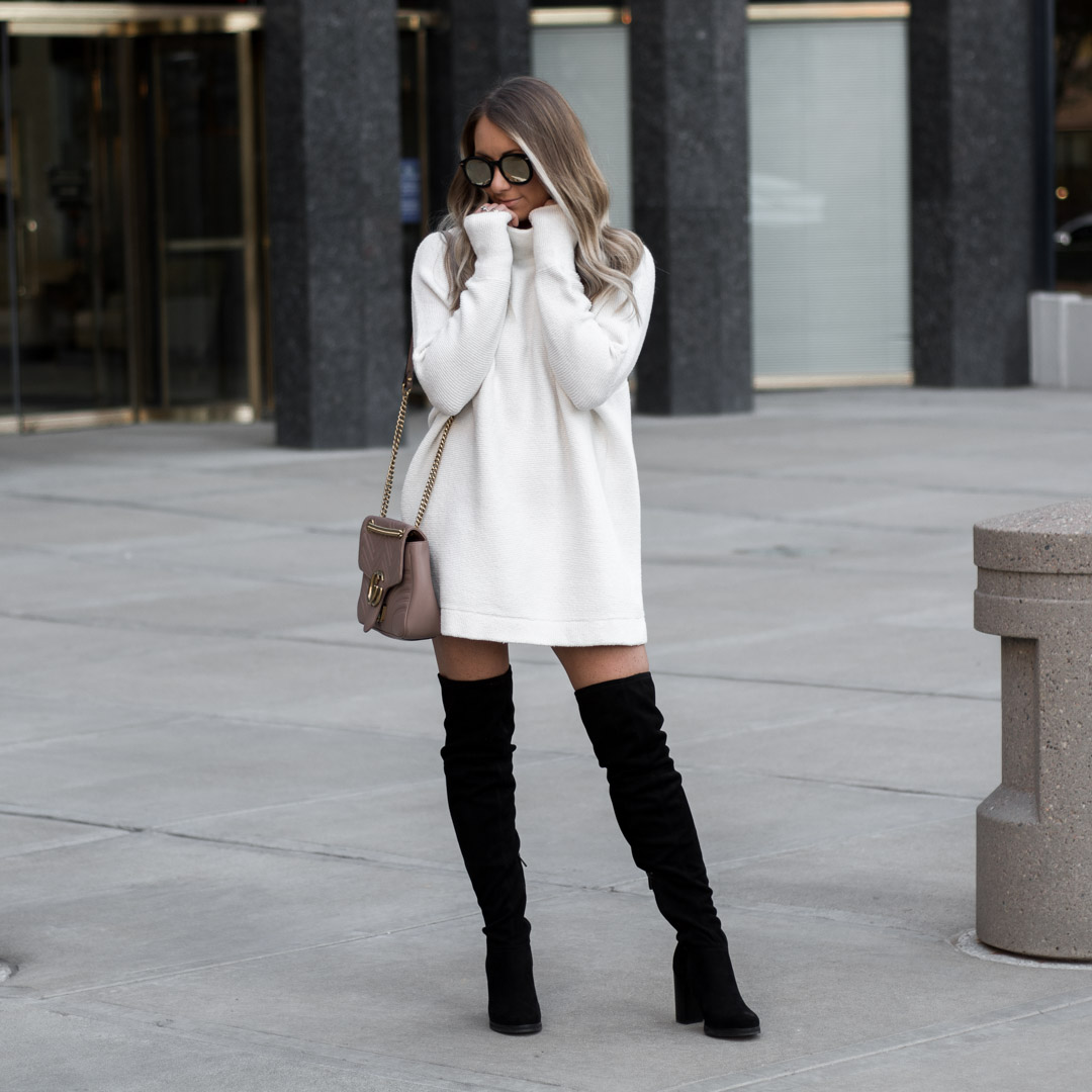 dresses to wear with tall boots